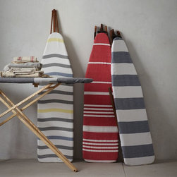 Cotton Ironing Board Cover - Even the laundry room deserves a little facelift, and these striped ironing board covers will do just the trick.