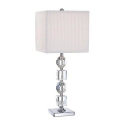 Illumine - Bedside Lamp: 24 in. Chrome Table Lamp CLI-LS450863 - Shop for Lighting & Fans at The Home Depot. The Designer Collection supplied by Commercial Lighting Industries is both modern and stylish, all while maintaining the ability to fuse together many different genres. This collection finds itself at home in many of today's popular design schemes. Whether you're looking for lamps, wall-lighting, pendants, or novelty lamps, the Designer Collection offers a lighting solution that is sure to satisfy any of your lighting needs.