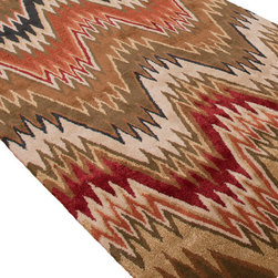 Jaipur Rugs - Hand-Tufted Soft Hand Wool/Art Silk Brown/Red Area Rug (2 x 3) - In rich jewel or sorbet tones, accented with hints of viscose, abstract patterns create a palette of design and color to build a room around.