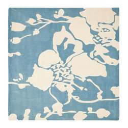Safavieh - Country & Floral Modern Art Square 7' Square Blue - Ivory Area Rug - The Modern Art area rug Collection offers an affordable assortment of Country & Floral stylings. Modern Art features a blend of natural Blue - Ivory color. Hand Tufted of Polyester the Modern Art Collection is an intriguing compliment to any decor.