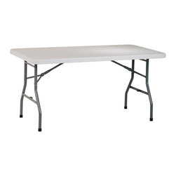 Office Star - Multi-Purpose Folding Table - 5 Foot Resin - This 5 foot Multi-Purpose table will provide a  great way to accommodate your guests at your parties.  It features durable resin construction and a solid metal frame to get the job done right! * Folding & easily stored. Resin construction. Metal Frame. 60 in. W x 30 in. D x 29.25 in. H. 60 in. W x 30 in. D x 29.25 in. H