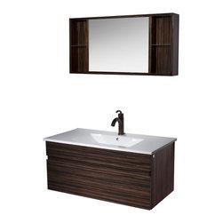 VIGO Industries - VIGO 35-inch Single Bathroom Vanity, Ebony, With Medicine Cabinet - Elegance is at your fingertips with this beautiful VIGO bathroom vanity. No other brand can match VIGO's style, quality and design.