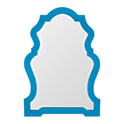 Lacquer Decorative Mirror, Blue Moon