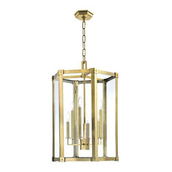 Hudson Valley Lighting - Hudson Valley Lighting 6220-AGB Pendant Light in Aged Brass - Hudson Valley Lighting 6220-AGB Roxbury Collection Transitional Pendant Light in Aged Brass