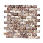 "mosaicandtilesource - ""Oyster Mocha"" Mother Of Pearl Backsplash Shell Tile - Italian 1st Quality Designer Shell Mosaics"