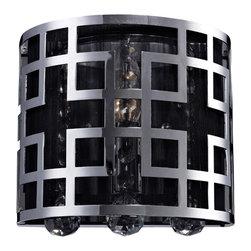 Z Lite - Z Lite 839CH-2V 2-Light Crystal Vanity Light - Z Lite 839CH-2V 2-Light Crystal Vanity Light