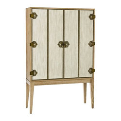 Chelsey Cabinet, Limed Oak By Arteriors