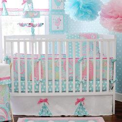Pixie Baby Aqua Crib Bedding by My Baby Sam - Pixie Baby Aqua 4-Piece Crib Bedding Set at Jack and Jill Boutique