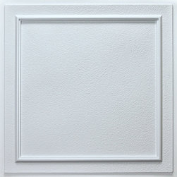 """Terrace Ceiling Tile - White - Perfect for both commercial and residential applications, these tiles are made from thick .03"""" vinyl plastic. Their lightweight yet durable construction make these tiles easy to install. Waterproof, these tiles are washable and won't stain due to humidity or mildew. A perfect choice for anyone wanting to add that designer touch at an amazing price."""
