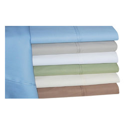 Bed Linens - Cotton Rich 600 Thread Count Solid Pillowcase Sets King Stone - Dress up your bedroom decor with this luxurious 600 thread count Cotton Rich pillowcase set. A superior blend of materials makes these pillowcases soft, easy to care for and wrinkle resistant. Each sheet set is made of 55% Cotton and 45% Polyester.