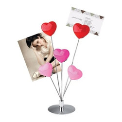 Kito - Picture/Card Holder With 5 Multicolored Heart-Shaped Clips - This gorgeous 8 Inch Picture/Card Holder with 5 Multi Colored Heart Shaped Clips has the finest details and highest quality you will find anywhere! 8 Inch Picture/Card Holder with 5 Multi Colored Heart Shaped Clips is truly remarkable.