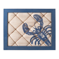 Blue Lobster Pin Board - This cushioned board, screen-printed with a lobster, reminds us of all those summer days ahead. And because summer's are packed with weekend getaways and adventures--we need a place to tack our inspirational images and to-do lists. We love this in the kitchen or family office.