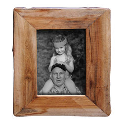 """Bambeco Reclaimed Natural Wood Frame 4""""x6"""" - These unique picture frames show off the raw beauty of nature in its purest form. Made from reclaimed California wood, these frames maintain a natural shape and will show off your favorite photos with organic style. They can stand alone or hang together on a wall for an artistic display. Because these frames are hand crafted from a natural source, no two are alike. Each will retain the natural grain and may contain a combination of wood species and color variations. Also available in: Reclaimed Redwood. Also available in: 3.5""""x3.5"""", 5""""x7"""", 8""""x10""""."""