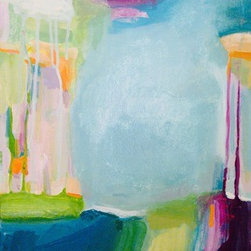 """Cotton Candy  (Original) by Stacy Vosberg - I loved watching this playful painting just """"happen""""! Oh there are layers of paint underneath. I just keep developing it, sometimes for several days."""