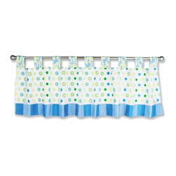Trend Lab Baby - Trend Lab Dr. Seuss Blue Oh! The Places You'll Go! - Window Valance - 30372 - Shop for Window Treatments from Hayneedle.com! The Trend Lab Dr. Seuss Blue Oh! The Places You'll Go! - Window Valance is the finishing touch your baby's nursery needs. This charming widow valance is an authentic Dr. Seuss product that coordinates with the Blue Oh! the Places You'll Go! Collection and is sold under license from Dr. Seuss Enterprises L.P. It has a crisp white background with cornflower blue powder blue grass green key lime and soft yellow polka dot pattern. The valance also has cornflower blue and powder blue stripe print at the bottom and matching swirl printed tabs for easy hanging. It measures 15L x 53W inches and fits all standard size windows. Complete the look in baby's room!About Trend LabBegun in 2001 in Minnesota Trend Lab is a privately held company proudly owned by women. Rapid growth in the past five years has put Trend Lab products on the shelves of major retailers and the company continues to develop thoroughly tested high-quality baby and children's bedding decor and other items. With mature professionals at the helm of this business Trend Lab continues to inspire and provide its customers with stylish products for little ones. From bedding to cribs and everything in between Trend Lab is the right choice for your children.