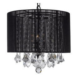 Gallery - Gallery T40-383 3 Light 1 Tier Crystal Mini Chandelier with Clear Crystals - Features: