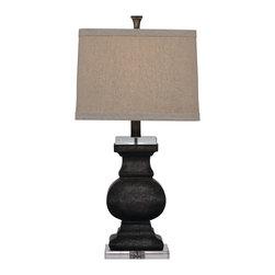 Bassett Mirror - Bassett Mirror Carmel Table Lamp L2550TEC - Bassett Mirror Carmel Table Lamp L2550TEC