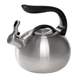 Chantal - Chantal Brushed Stainless Steel 2-quart Bubble Tea Kettle - With a gorgeous brushed stainless steel finish,this smooth tea kettle features a convenient single-attachment handle with a slight and comfortable curve. The kettle holds two quarts and is perfect for all stove top types except magnetic induction.