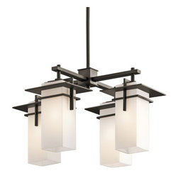 "Kichler - Kichler 49638OZ Caterham Indoor / Outdoor Mini Chandelier w/4 Lights- 21"" Wide - Kichler 49638OZ Caterham Indoor / Outdoor Chandelier"