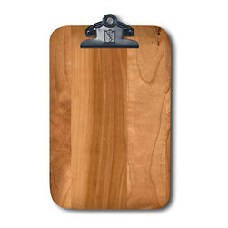 Note Catchers by Winwood Designs - Cherry Wood Magnetic Clipboard, Refrigerator Magnet Extraordinaire - Designed to hold a traditional memo pad and pen. Crafted from solid Appalachian cherry  wood. Surprising strong magnets that will adhere to most steel surfaces.  Made in the USA with earth friendly American hardwoods. Organize your kitchen, office or car with this beautiful accessory.