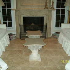 Traditional Living Room by Hightower Concrete Works, LLC