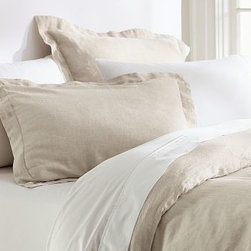 Linen Solid Duvet Cover, King/Cal. King, Natural - Made from the fibers of the flax plant, linen is lustrous, smooth and cool to the touch. Our bedding is enzyme washed for added softness and comes in a mix of solid colors that complement many patterns and styles. Made of pure linen. Yarn dyed for vibrant, lasting color. Duvet cover and sham reverse to self. Pre-washed. Duvet cover and sham have button closures. Duvet cover, sham and insert sold separately. Machine wash. Imported.