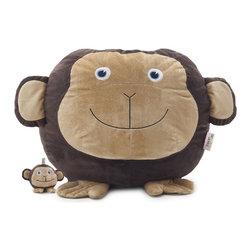 Comfort Research - Comfort Research Bean Bagimals with Lil Buddy, Maya the Monkey - Is your little one a budding animal lover? Or maybe they're just the proud owner of a soft spot for all things cute? Our Bagimal Collection is an adorable set of huggable, lovable, and FUNctional animals that are perfect for playtime, nighttime stories or just cuddling up. Matching Lil Buddy pal to play with included. Made with soft, kid-friendly polyester, short fur fabric. Filled with UltimaX Beans that conform to you.  Double stitched and double zippers for added strength and safety. Spot clean.