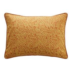 "Sadas Life - Bruket Collection Accent Pillow - Handmade batik cap Green and gold vine motif, zipper closure, 12"" x 16"" (Pillow insert not included.) Great accent pillow for Bruket Collection."