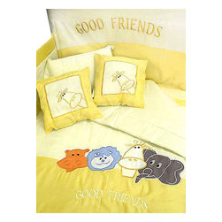 Nationwide - Animals Good Friends Toddler Bedding Crib Comforter Set - FEATURES: