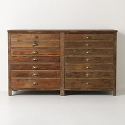 "Anthropologie - Illusorio Cabinet - Three shelves, three drawersReclaimed pine36""H, 60""W, 20""DImported"