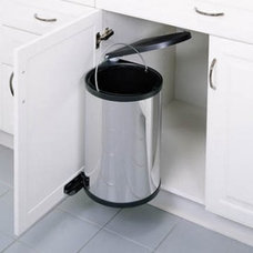 Rev-A-Shelf Single Pull Out 15 Liter Stainless Steel Trash Can