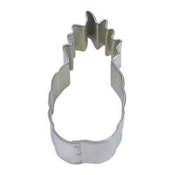 RM - Pineapple 2.5 In. B1279X - Pineapple cookie cutter, made of sturdy tin, Size 2.5 in., Depth 7/8 in., Color silver