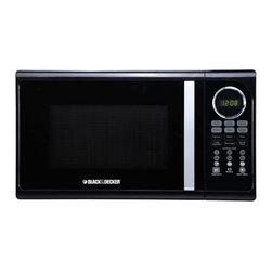 Black & Decker - Black and Decker .9 Cu. Ft. Microwave 900W Black - 0.9 Cu. Ft.