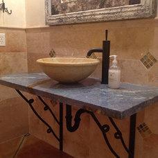 Eclectic Bathroom Vanities And Sink Consoles by Janis Opie