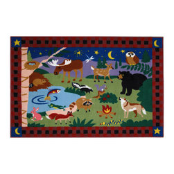 "Fun Rugs - Camp Fire Friends Olive Kids Collection Rug - 39"" x 58"" - This colorful rug has camp fire friends design Collection Name: Olive Kids; 100% Nylon Dimensions: 39"" x 58"""