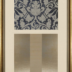 Paragon Decor - Floral Motif II Artwork - Exclusive Giclee with Hand Pulled Metallic Embossment