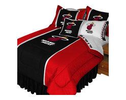 Store51 LLC - NBA Miami Heat Comforter Pillowcase Basketball Bedding, Queen - Features: