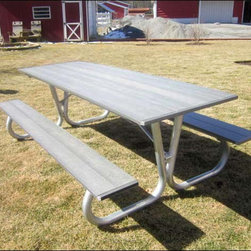 Fifthroom - Highwood Picnic Table w/Galvanized Steel Frame -