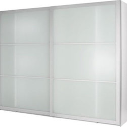 IKEA of Sweden - PAX Wardrobe with sliding doors - Wardrobe with sliding doors, white, Lyngdal glass