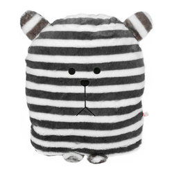 Blancho Bedding - [Striped Bear] Bolster Decorative Back Cushion Throw Pillow - Aesthetics and Functionality Combined. Hug and wrap your arms around this stylish [Striped Bear] decorative pillow, offering a sense of warmth and comfort to home buddies and outdoors people alike. This art pillow features contemporary design, modern elegance and fine construction. The rich look and feel, extraordinary textures and vivid colors of this comfy pillow transforms an ordinary, dull room into an exciting and luxurious place for rest and recreation. Suitable for your living room, bedroom, office and patio. It will surely add a touch of life, variety and magic to any rooms in your home. The lovely decorative pillow measures 11.8 by 15.7 inches with creative design.