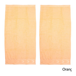 None - Jacquard Border Solid Terry Beach Towel 2 Pack - These soft terry bath towels will liven up any bathroom with their bright and cheerful colors and patterns. Set includes two (2) towels of the same color and pattern.