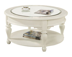 Riverside Furniture - Riverside Furniture Essex Point Round Cocktail in Shores White - Riverside Furniture - Coffee Tables - 1103S - Riverside's products are designed and constructed for use in the home and are generally not intended for rental commercial institutional or other applications not considered to be household usage.