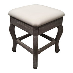 EuroLux Home - New Stool Riverwash Painted RW-WHT Painted - Product Details