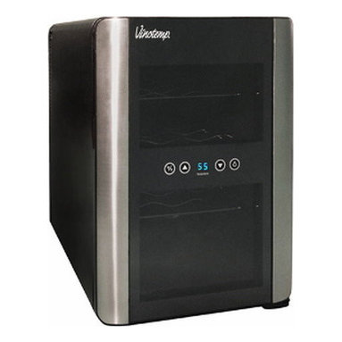 Vinotemp - 12 Bottle Thermoelectric Wine Cellar (iCellar) - The Vinotemp VT-12TEDi iCellar model wine cooler features an innovative new aesthetic design paired with our reliable wine cooler technology. This cellar holds up to 12 bottles.