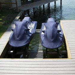 jet ski lifts,boat lifts and bulkheads - double jet ski / pwc lift