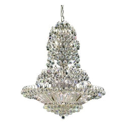 """PWG Lighting / Lighting By Pecaso - Lynette 33-Light 36"""" Crystal Chandelier 2472G36C-SS - The Lynette Collection is as beautiful and mysterious as falling rain drops with shimmering displays of light. These Crystal Chandeliers offer a modern sensibility with a timeless beauty and elegance."""