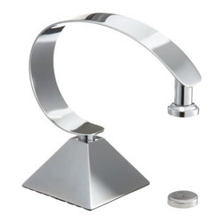 Taymor - Deluxe Magnetic Soap Holder with Pyramid Base, Chrome - Deluxe Magnetic Soap Holder is a cool and unique way of storing hand soap on your bathroom countertop. The magnetic soap holder is an easy to use soap holder that stores one hand sized guest soap and prevents soap build up.