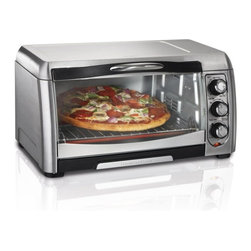 Hamilton Beach - Hamilton Beach 31333 6 Slice Convection Toaster Oven Multicolor - 31333 - Shop for Toaster Ovens from Hayneedle.com! Enjoy versatile cooking without having to turn on the kitchen oven with theHamilton Beach 31333 6 Slice Convection Toaster Oven. This oven features a stylish look and optional convection cooking even heat. Toast bake and broil like a standard toaster oven and enjoy the spacious interior that can hold up to a 12-inch pizza. It also features easy to use knobs for heat settings cooking tray and rack and slide out crumb tray.About Hamilton BeachOne of the country's leading distributors of small kitchen appliances Hamilton Beach Brands Inc. sells over 35 million appliances every year. The company's most famous brands -- Hamilton Beach Eclectrics Proctor Silex and TrueAir -- are found in households across America Canada and Mexico. Hamilton Beach takes immense pride in their product quality wide variety of options superior customer service and brand name strength and remains committed to serving customers through Good Thinking applied to the style and function in all of their small electric appliances.