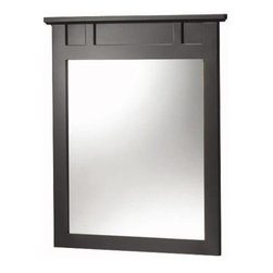 Foremost - Foremost Haven 25 x 31 Wall Mounted Mirror, Espresso (TREM2531) - Foremost TREM2531 Haven 25in. Vanity Mirror, Espresso