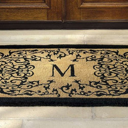 """Frontgate - Courtyard Coco Monogrammed Door Mat - 18"""" x 30"""" - I really like the idea of a monogrammed welcome mat. This one is especially pretty."""